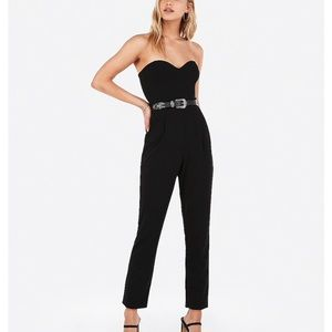 Express Strapless Jumpsuit-Black- NWT- Size 14